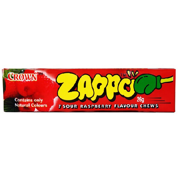 Zappo Sour Raspberry Chews