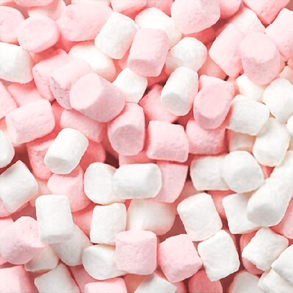 Pink & White Mini Marshmallows 1 kilo