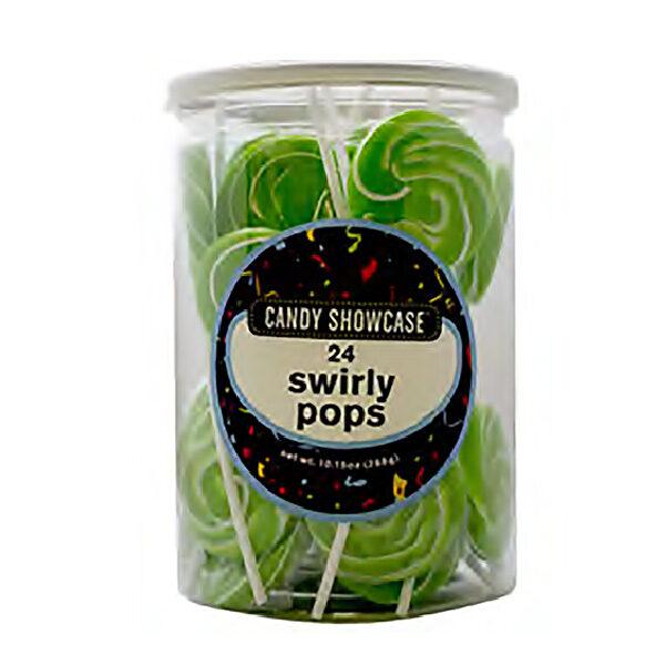 Swirly Green Lollypops