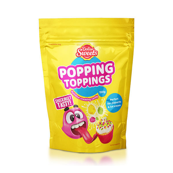 Dollar Sweets – Rainbow Popping Toppings