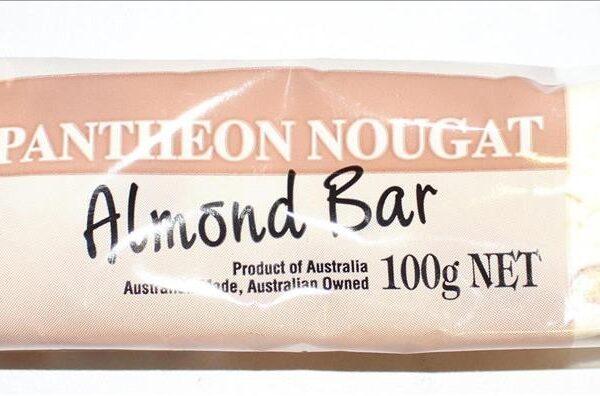 Pantheon Nougat Almond Bar
