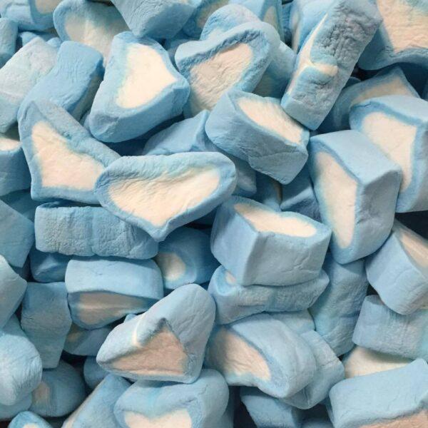 Blue Marshmallow Hearts